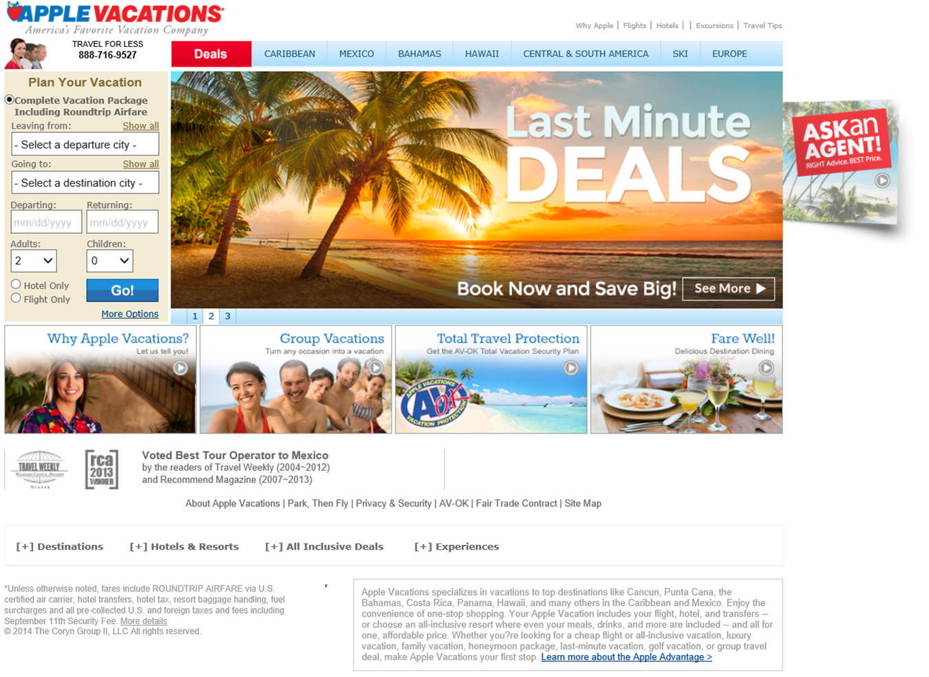 421dbb37dd90a Apple Vacations by Travel for Less